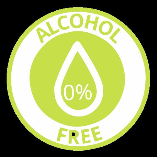 Ilustracija zelenog bedža za 100% bez alkohola